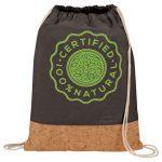 custom bags custom backpacks cotton and cork drawstring bag2